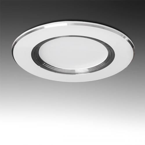 Downlight LED Ø98mm Aro Plateado 3W 240Lm