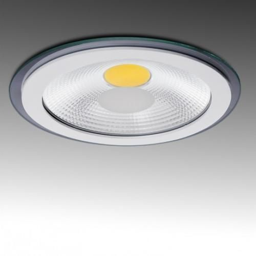 Downlight LED Circular COB Difusor Transparente Ø150mm 10W 800Lm