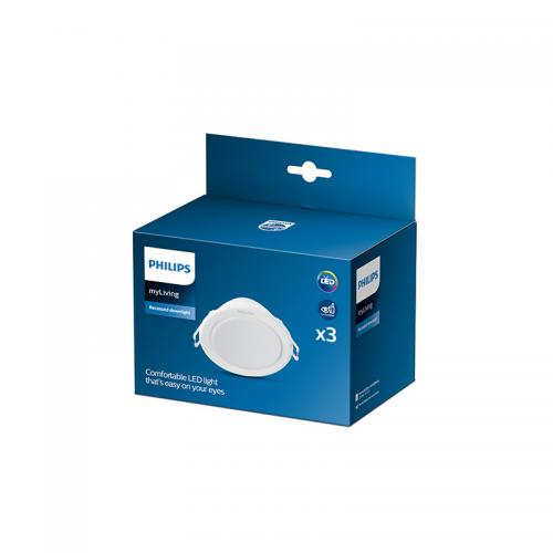 "Pack 3 Downlight LED Philips ""Meson"" Circular 3,5W 550Lm Blanco 4000K [PH-915005805503] - Imagen 1"