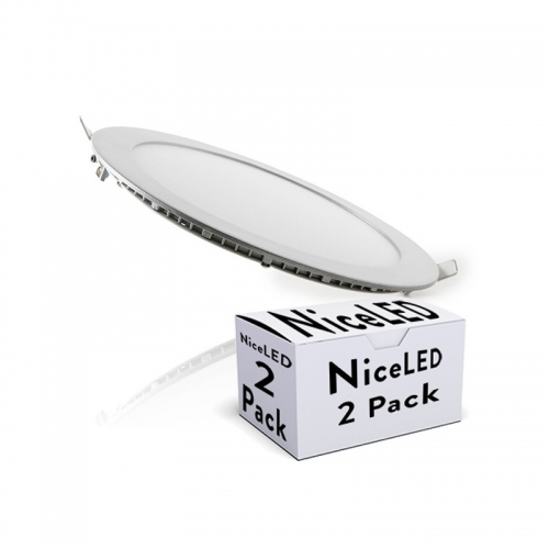 Pack 2 Placas LED Circular EcoLED 225mm 18W 1409Lm