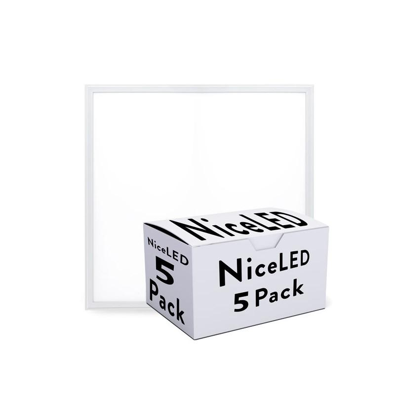 Pack 5 Panel LED Marco Blanco 595X595X12Mm 36W 3623Lm - Imagen 1