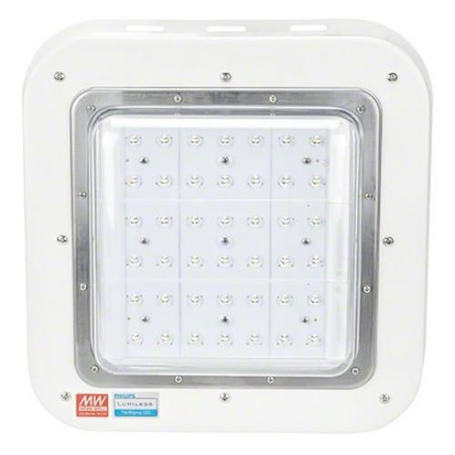 Luminaria LED Especial Gasolineras Philips/Meanwell IP65 Ik08 100W 9500Lm - Imagen 1