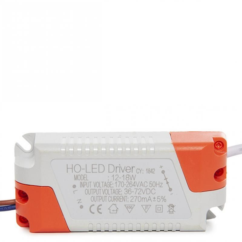Driver No Dimable 0.95 F.P.  Downlights LED 12W - Imagen 1