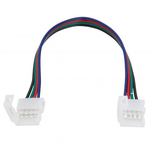 Conector Tira LED 12/24VDC SMD5050 10mm RGB  4 Vías Doble